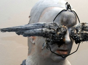 self portrait with crows wings detail 2010