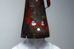 Self Portrait with fire extinguisher 2011 detail