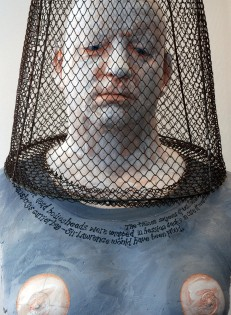 self portrait with french crawfish trap (detail) 2010