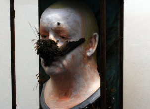 self portrait with starling (detail) 2010 copy